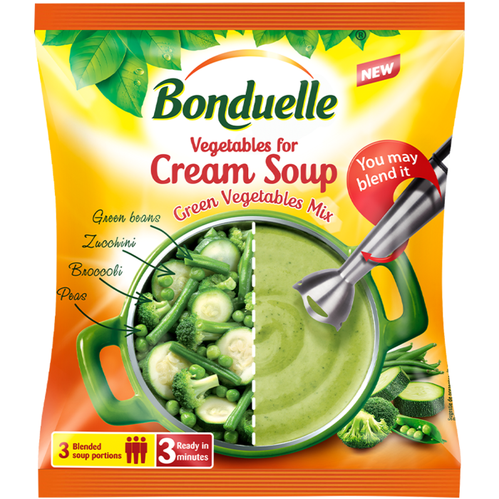 Amestec de legume pentru supă cremă de legume verzi