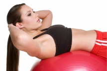 flat belly exercises give slim shape to body