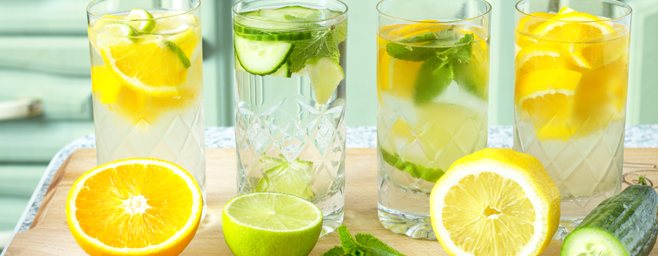 Drink at least 2 litres of water a day