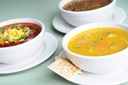 Find out how many calories are there in soups. Calories chart will help you to find out amount of proteins, fats and carbohydrates are in soups.