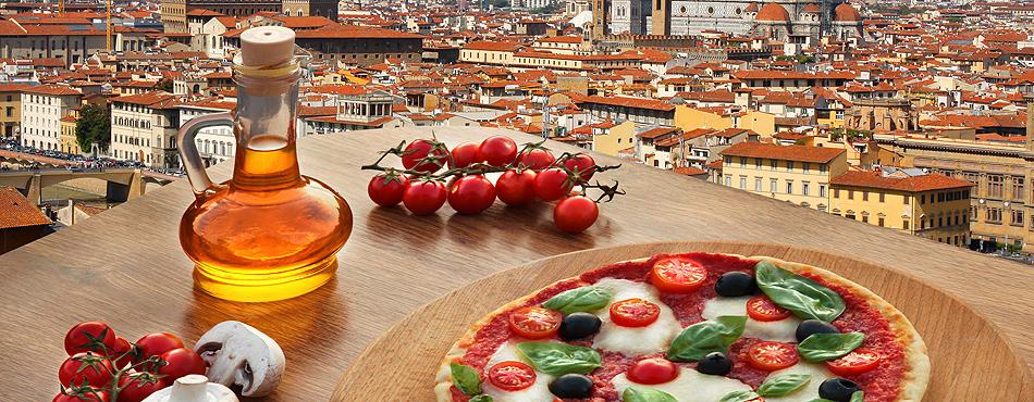 pizza, tuskanija, itlija