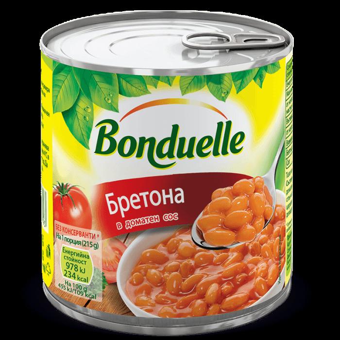 BRETONA Зрял фасул с пикантен доматен сос