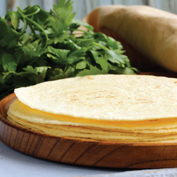 Тортила с masa harina - мексикански палачинки от царевично брашно