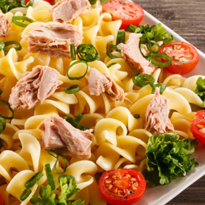 Спагети по сицилиански - италиански макарони с риба тон