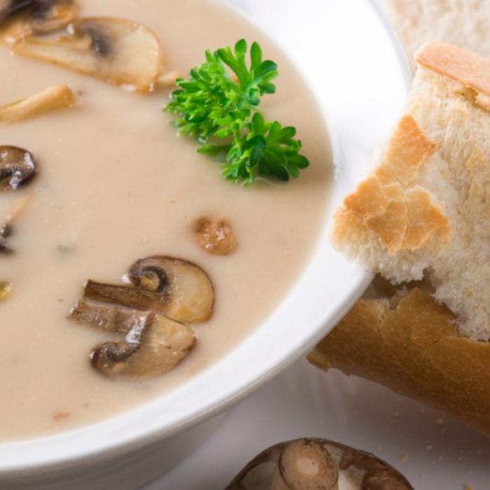 Гъбена супа с франзела