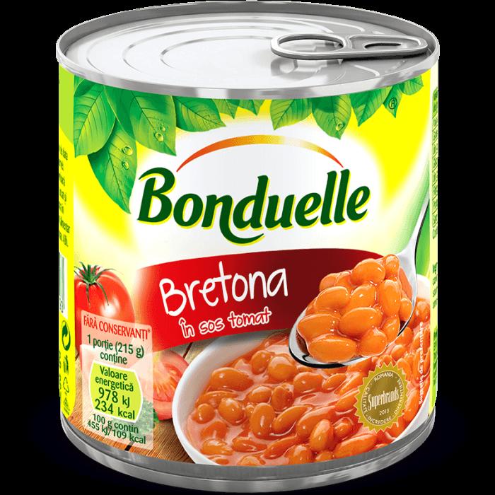 BRETONA, Fasole albă boabe în sos tomat