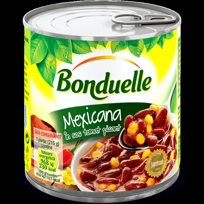 MEXICANA, Fasole roşie boabe cu porumb dulce în sos tomat picant