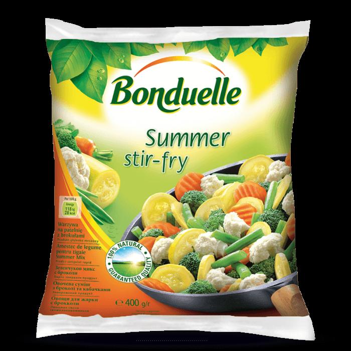 Amestec de legume pentru tigaie cu Dovlecel, Summer Stir-Fry