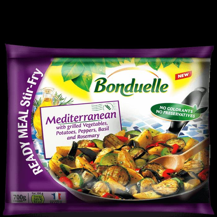 Amestec de legume pentru tigaie, deja gătit, Mediteraneean