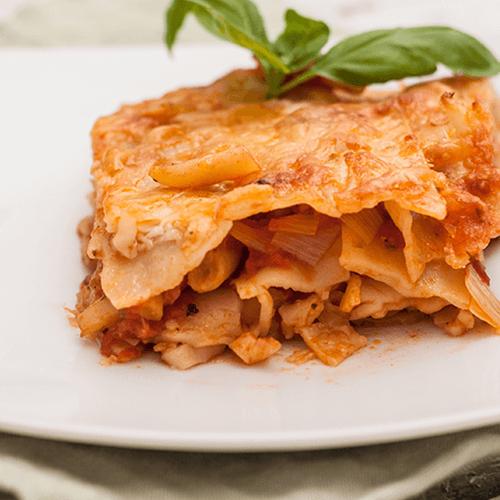 Lasagna specială cu fasole galbenă