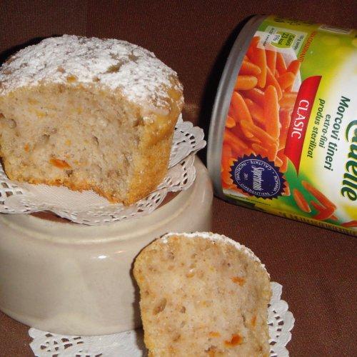 Brioșe cu baby morcovi și nuci