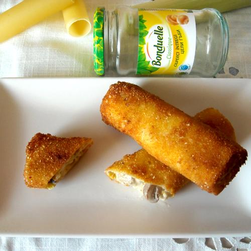 Cannelloni cu ciuperci și pește