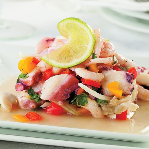 Ceviche - Pește marinat în tomate și suc de lămâie