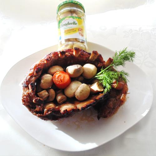Costițe de porc cu ciupercuțe