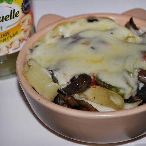 Gratin de paste și legume cu brânză