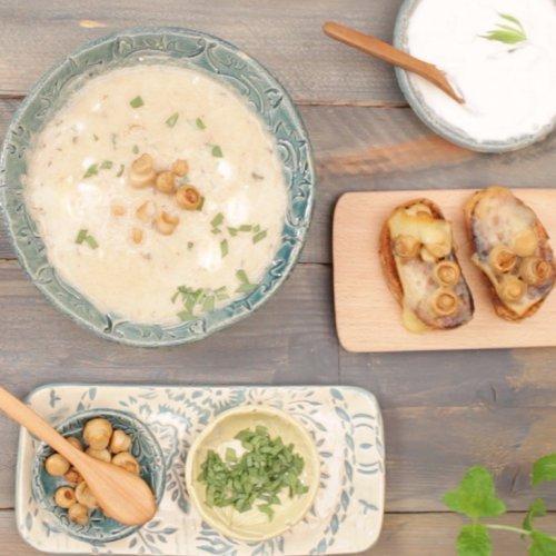 Supă de ciuperci cu vin