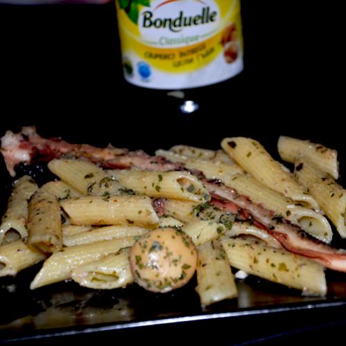 Penne cu ciuperci și caracatiță