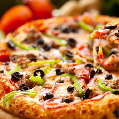Pizza cu ardei și măsline