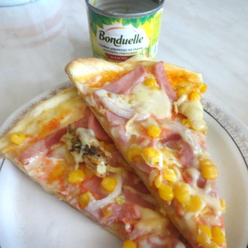 Pizza cu porumb Bonduelle