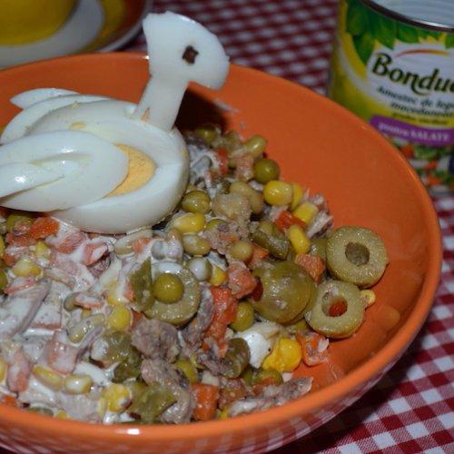 Salată macedoneană cu sardine