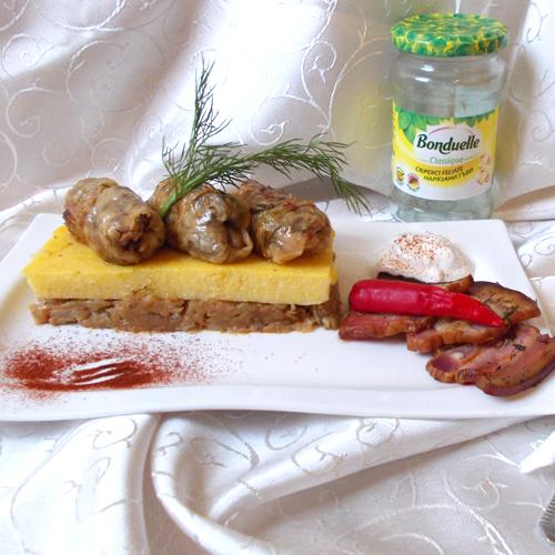 Sărmăluțe cu carne și ciuperci