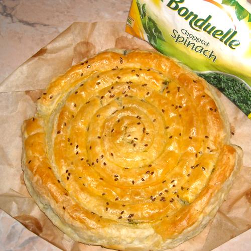 Spirală cu spanac