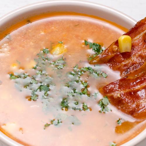 Supă mexicană cu porumb