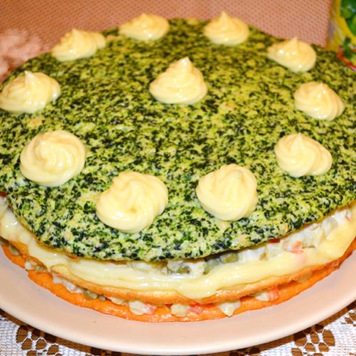 Tort aperitiv cu salată boeuf