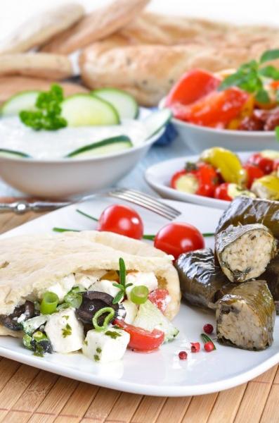 Греческий салат и дугие блюда из овощей