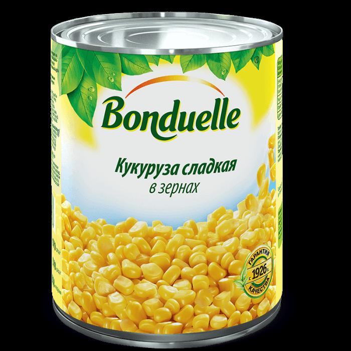 Кукуруза сладкая в зернах в вакуумной упаковке