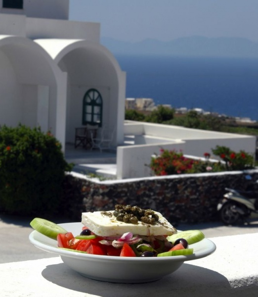 Грецкий салат и архитектура Греции