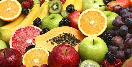 Количество калорий в фруктах