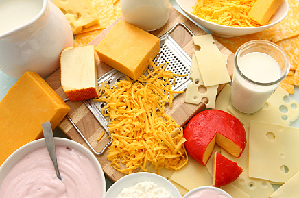 Таблица калорийности молочных продуктов