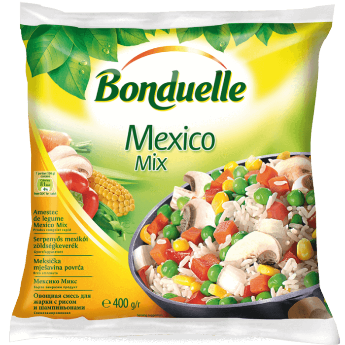 """Овощная смесь для жарки с рисом и шампиньонами """"Мексиканская"""""""