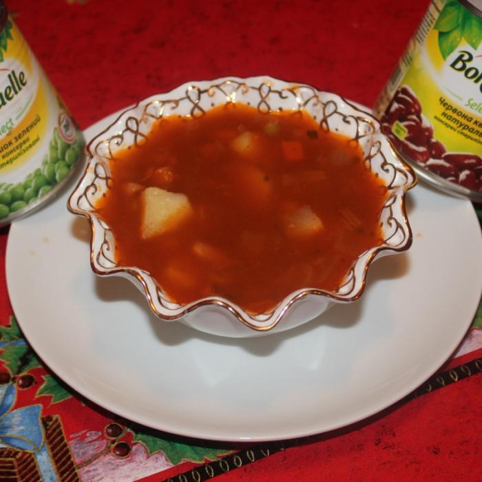 """Суп минестроне с овощами """"Бондюэль"""""""