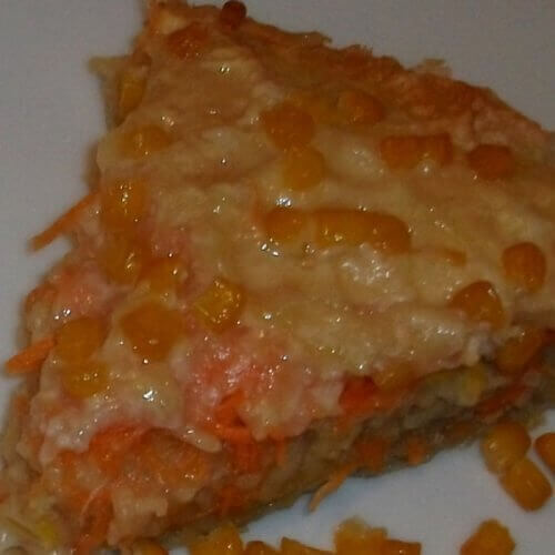 """Морковно-яблочный пирог с кукурузкой """"на скорую руку"""""""