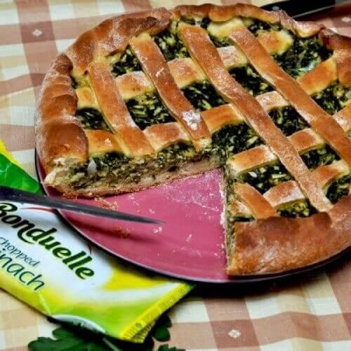 Пирог со шпинатом «Достойный Bonduelle»