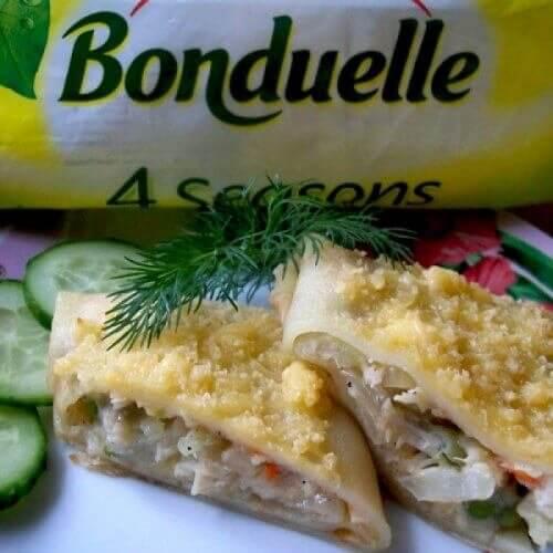 "Блины с овощами от ""Bonduelle"""