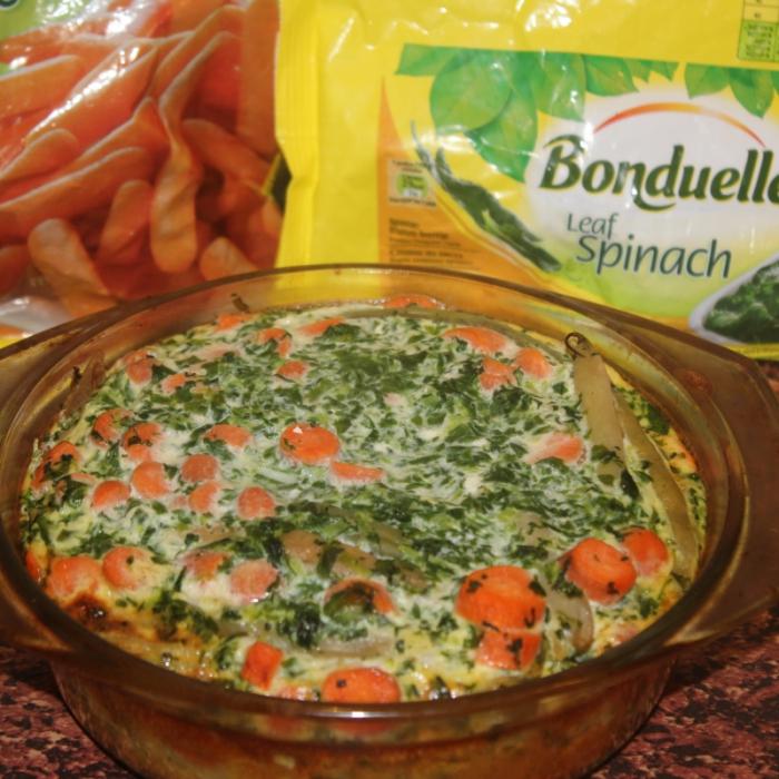 """Фритата со шпинатом и морковкой """"Бондюэль"""""""