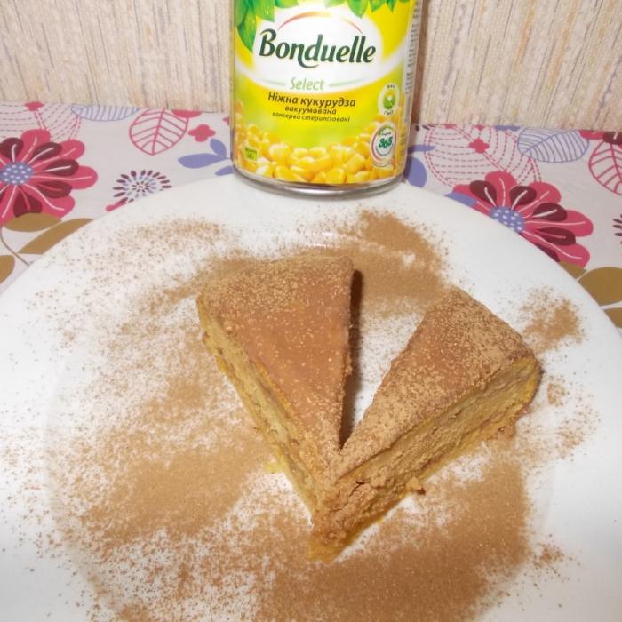 Тыквенно-кукурузный бисквит с изумительным кремом