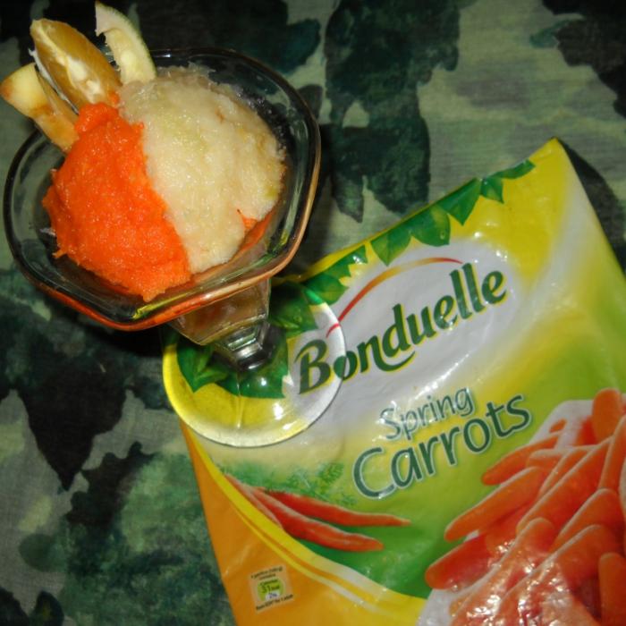 Салат-коктейль из моркови, яблок и сельдерея