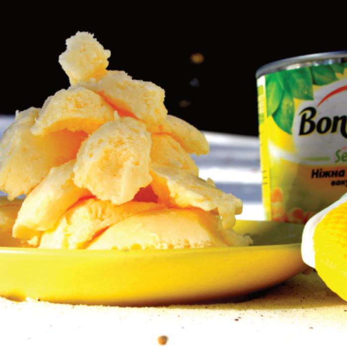 "Мороженое ""Зимняя елочка"" из сладкой кукурузы Bonduelle"