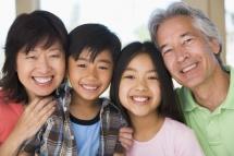 Родина з Японії з дітьми разом