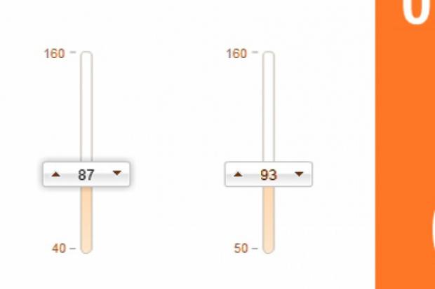 Калькулятор відношення об'єму талії до об'єму стегон