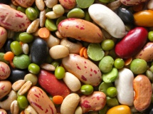 Фон із зерен бобів та квасолі різних видів