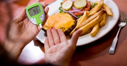 Перевірка складу крові на цукор перед сніданком за столом