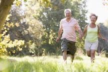 З дружиною на природі на пробіжці