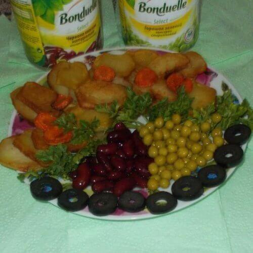 Картопля з овочами