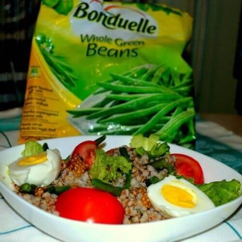 Теплий гречаний салат