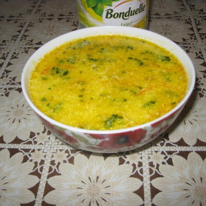 Суп-пюре овочевий з кукурудзою